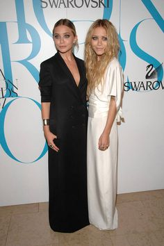 The Row designers choose minimalist, black-and-white gowns for the annual CFDA Fashion Awards.