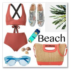 """Beach"" by ludmyla-stoyan ❤ liked on Polyvore featuring Haight, DENY Designs, Karen Walker, Spartina 449, Pacifica, Gucci, beachday, swimwear, bag and swimsuit"