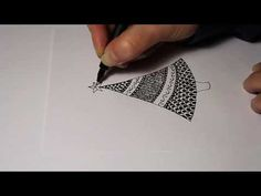 How to draw a simple Christmas tree zentangle style #zentangle #zendoodle #tutorial
