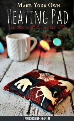 Make Your Own Heating Pad (Scented with Essential Oils) Here is a super simple DIY perfect for this time of year.These heating pads would make an excellent homemade holiday gift! You can totally make these on the cheap and you do NOT need a sewing machine. #DIY #holiday