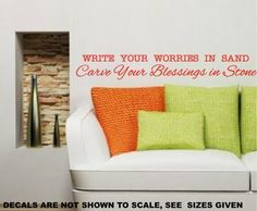 CARVE BLESSINGS INSPIRATIONAL QUOTE TYPE 1 WALL ART STICKER LARGE VINYL DECAL