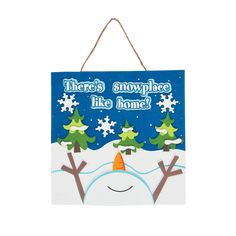 There's Snowplace Like Home Sign Craft Kit - OrientalTrading.com