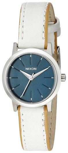 Nixon Women's A398321 Kenzi Leather Analog Display Analog Quartz White Watch >>> Want to know more about the watch, click on the image.