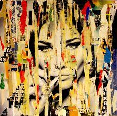 "Saatchi Art Artist Michiel Folkers; Collage, ""Carla Bruni is smoking"" #art"