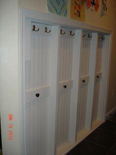 New Narrow Closet Organization Diy Hooks Ideas Mudroom Cubbies, Hallway Storage, Wall Storage, Locker Storage, Bike Storage, Hidden Storage, Garage Storage, Garage Door Trim, Narrow Closet