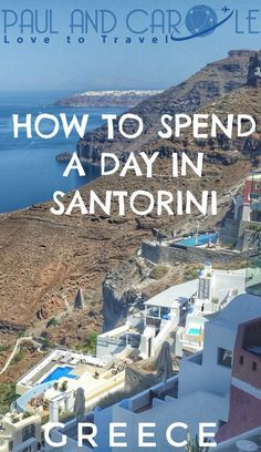 We cruised to Santorini and spent the day exploring. Here are some ideas on how to spend your day! European Destination, European Travel, Cruise Port, Cruise Tips, Greek Cruise, Greece Today, Greece Travel, Greece Trip, Greece Vacation