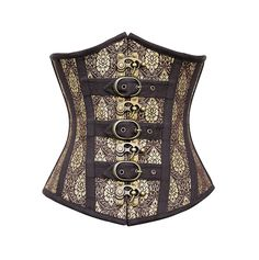 Willie Steampunk Gold Underbust Plus Size Corset – Corsetdeal.co.uk