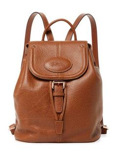 Mystery Medium Leather Backpack by Longchamp at Gilt