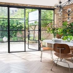 Crittall windows – everything you need to know about black s.- Crittall windows – everything you need to know about black steel frames – Crittall windows – everything you need to know about black steel frames – - Steel Doors And Windows, Black Windows, Steel Frame Doors, French Windows, Modern Windows, Steel Frame House, French Doors Patio, House Extension Design, House Design
