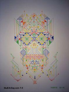 Geometrical Skulls by Poohvis Thanathammakoon