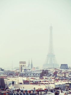 Eiffel Tower in the mist, Paris