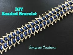 Easy bracelet with central beads ~ Seed Bead Tutorials