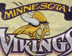 Minnesota # Vikings Print/Mat only $15. By ZekesAntiqueSigns.com