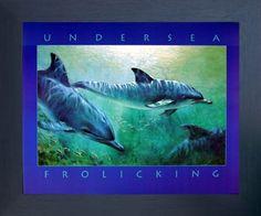Sea Dolphin Underwater Ocean Sealife Animal Wall Decor Framed Art Print Picture by Impact Posters Gallery, http://www.amazon.com/dp/B00IR7S2SU/ref=cm_sw_r_pi_dp_x_aJWDzbCY5YKPS