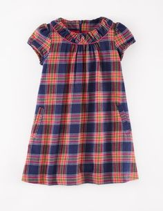 Cosy Check Dress 33321 Day Dresses and Pinnies at Boden