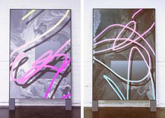 Acrylic paintings by Melbourne [AUS] based artist Michael Staniak Melbourne Au, Acrylic Paintings, Illustrations Posters, Contemporary Art, Weird, Wall Decor, Neon Signs, Drawings, Art Art