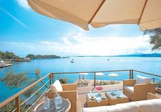 An idyllic five or seven-night Corfu hideaway on a private peninsula with half board, a sea view and all travel
