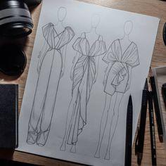 Dress Design Sketches, Fashion Design Sketchbook, Fashion Design Drawings, Fashion Sketches, Fashion Figure Drawing, Fashion Drawing Dresses, Fashion Illustration Dresses, Fashion Figures, Ideias Fashion