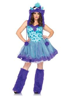 Fashion Plus Size Dress with Tutu Skirt Furry Monster Hood .fashionbug.us #  sc 1 st  Pinterest & Fashion Bug Plus Size Premium Ivy Vixen Corset Costume www ...