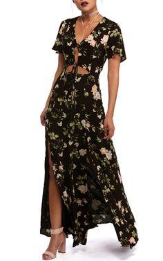 Black Floral Dream Maxi Dress via @bestmaxidress