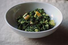 I've been eating a lot of creamed spinach lately (my husband and I are on a mission to rank New York City steakhouses), and thus I've been also been thinking about another, decidedly non-American version of this dish: saag paneer. If you've never had saag paneer, you've been missing out. It's the Indian version of creamed spinach, delicately spiced and swimming with chunks of paneer cheese, which is firm and a little squeaky -- kind of like halloumi.