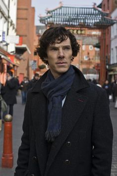 "Of Benedict Cumberbatch's clothes in BBC Sherlock, costume designer Sarah Arthur said: ""Holmes wouldn't have any interest in fashion so I went for classic suits with a modern twist: narrow-leg trousers and a two-button, slim-cut jacket. I also went for slim-cut shirts and a sweeping coat for all the action scenes--it looks great against the London skyline."" (Quote source: http://www.sherlockology.com/crew/sarah-arthur)"