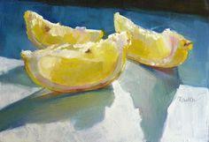 유 Still Life Brushstrokes 유 Nature Morte Paintings - Barbara Newton Art Journal: Lemon Slices