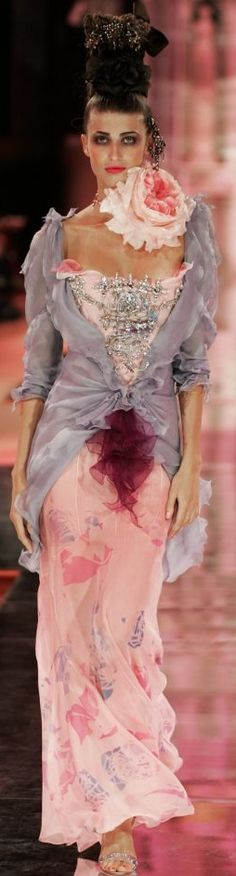 "Does anyone else think this ""Christian Lacroix Haute Couture"" looks like she has had a catastrophic period mishap?"