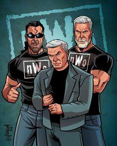Nwo Wrestling, Wrestling Posters, Wrestling Superstars, Wrestling Divas, Eric Bischoff, Wwe Pictures, Wwe Photos, Scott Hall, Kevin Nash