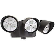 "Bronze Three-Light 5"" High LED Floodlight $192 100watt"