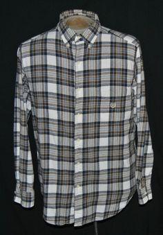 Ralph Lauren Chaps Shirt L Button-Down Mens Multi-Color Plaid Cotton Long Sleeve #RalphLaurenChaps #ButtonFront auction starting at $11.95
