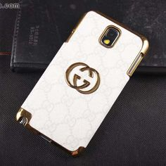 Gucci Galaxy Note 3 Case Designer Leather Cover White [NoteCase-0128] - $23.80 :