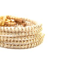 SALE Suede Rhinestone Bracelet  Cream by MesaBlue on Etsy