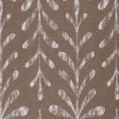Kaftor Leaf Nougat. Available printed on linen, cotton, cotton linen blends. © Ellen Eden
