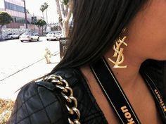 add a caption #YSL -  #gold