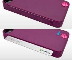 SwitchEasy CARD iPhone case ($29.99) - stores one credit card/contact-based smartcard; slide button for ejection.