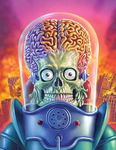 Mars Attacks Invasion Trading Cards Wrapper by ED REPKA