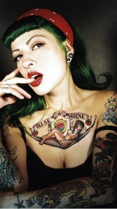 Green Orchid Tattooed Pin-up