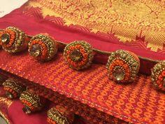 Saree Tassels Designs, Cuff Bracelets, Wedding Dresses, Crochet, Blouse, Jewelry, Shop, Fashion, Bride Dresses