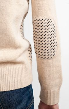 "happyhearthungryeyes: "" (via Cardigan: Mitchell Jacquard Crewneck-in Wheat/Navy!) """