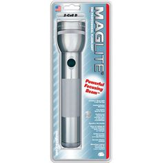 MagLite 2 D-Cell Flashlight, Gray $12.82
