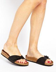 aaa2ea305f6614 Birkenstock Black Madrid Flat Sandals at asos.com