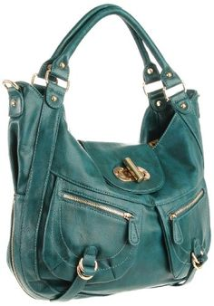 $113.00 Melie Bianco Alyssa W10-75 Slouchy Shoulder Bag,Peacock,one size -  http://www.amazon.com/dp/B0052YL7GA/?tag=pin0ce-20
