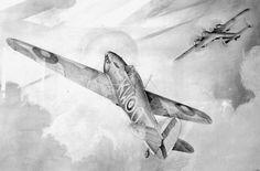Hawker Hurricane (HB Pencil Drawing)