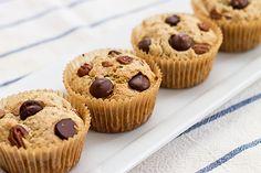 Healthy banana muffins with yogurt