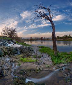Paesaggio fluviale in Ucraina