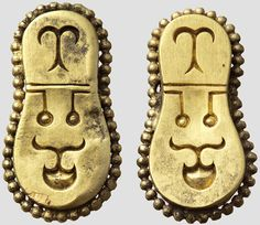 Two gold belt fittings, Byzantine. Middle 6 Century -  Early 7th Century.
