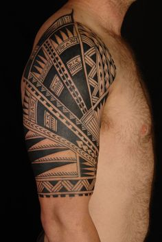 Tribal Aztec Tattoo Design Tribal Arm Half Sleeve Tattoo - http://tattooideastrend.com/tribal-aztec-tattoo-design-tribal-arm-half-sleeve-tattoo/ - #Sleeve, #Tattoo, #Tribal