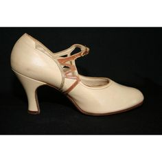 Vtg Julianelli Italian Beige & Black Saddle Oxford Style Low Heel Canvas Shoes 8 Heels