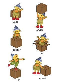 Voorzetsels leren met Puk Croatian Language, Dutch Language, Math For Kids, Activities For Kids, Dutch Words, Improve Your English, Classroom Language, Learn Chinese, Kindergarten